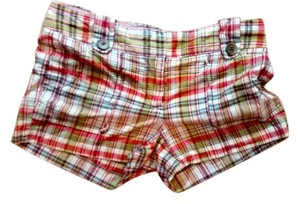 J.Crew J Crew Size 0 Mini/Short Shorts red plaid