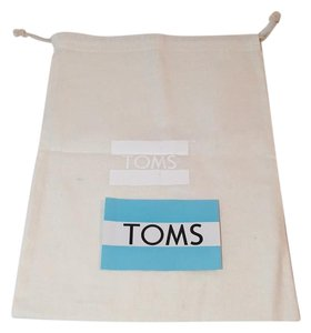 TOMS TOMS DRAWSTRING CANVAS DUST BAG FOR SHOES + STICKER