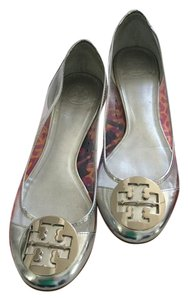 Tory Burch Clear/ Silver Patent Flats