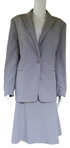 Calvin Klein CALVIN KLEIN Gray Career Skirt Suit 12/14