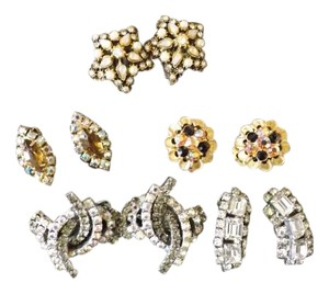 Vintage Rhinestone Earrings Beautiful Collection Of Vintage Earrings