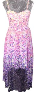 Pink, purple, multi. Maxi Dress by Guess