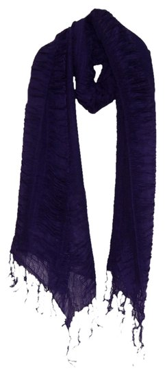 Other New'wrinkled Crosspiece Purple Scarf Size:49X180X82cm Item:A400044P