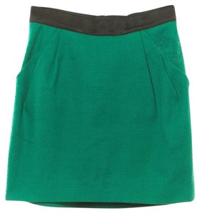 3.1 Phillip Lim Wool Military Button Mini Mini Skirt Green