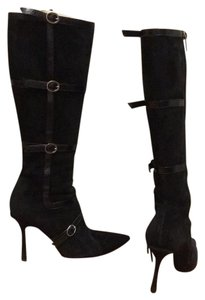 Jimmy Choo Boot Pointed Toe Black Boots