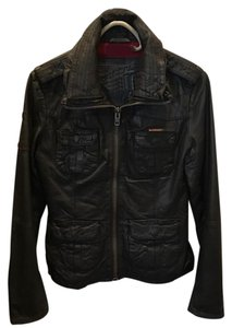 Super Dry Brown Leather Jacket