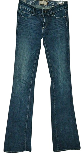Item - Blue Distressed Premium Hollywood Hills Boot Cut Jeans Size 24 (0, XS)