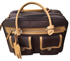 Franklin Covey Genuine Leather Rolling Laptop Case Laptop Bag