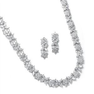 Mariell Cz Bridal Necklace With Marquis Flowers 2020s