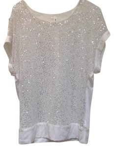 Studio Y Sequin Short Sleeve Sweater