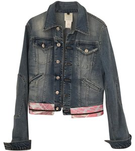 Just Cavalli Denim / pink Womens Jean Jacket