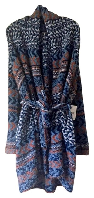Item - Blue Combo Iona Belted Cardigan Size 2 (XS)