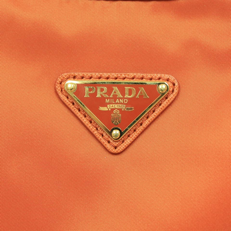 dfe200e43770 Prada Tessuto Saffian Orange Nylon & Leather Messenger Bag - Tradesy
