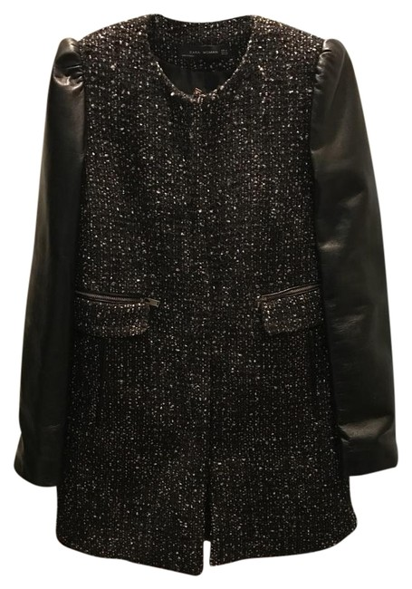 Item - Black with Red and White Stitch Coat Size 8 (M)