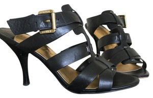 Ivanka Trump Black with gold buckles Sandals