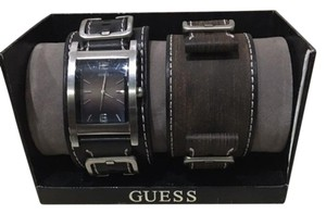 Guess Interchangeable Leather Strap Watch