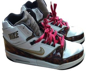 Nike Brown. White. Athletic