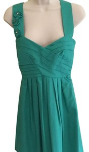 Arden B. Cotton Lined Crisscross Strap Flower Zipper Dress