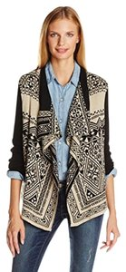 Lucky Brand Cotton Geometric Sweater Cozy Cardigan