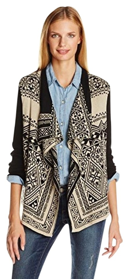 Lucky Brand Multicolor Waterfall Sweater Cardigan Size 8 (M) - Tradesy