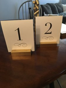 Table Numbers - New