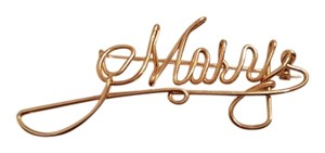 Vintage Handmade Gold Tone Script Mary Name Pin Vintage Handmade Gold Tone Script Mary Name Pin