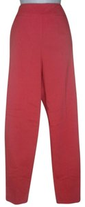 Marla Wynne Dress Light Knit Spandex Skinny Pants Coral