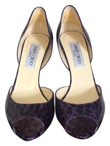 Jimmy Choo Black and Purple Formal