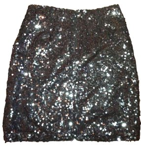 Tahari Skirt Black/ Silver Sequins