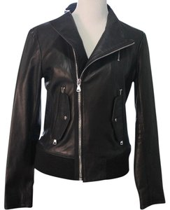 Vince Camuto Leather Motorcycle Jacket