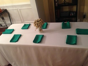 150 Emerald Cloth Napkins