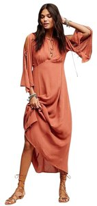 Maxi Dress by Free People Prettiest Thing Midi Sx Xs Clay Nwot