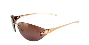 Cartier Cartier Vintage Sunglasses Panthere De Cartier Rimless Exquisite