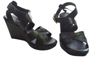 Kork-Ease Leather Black Sandals