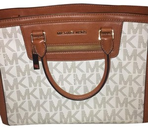 Michael Kors Satchel in Tan And Brown