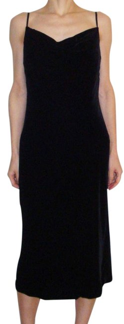 Preload https://img-static.tradesy.com/item/19843782/banana-republic-black-new-velvet-drape-neck-mid-length-cocktail-dress-size-2-xs-0-1-650-650.jpg