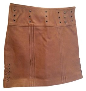Sharagano Skirt Dark Tan