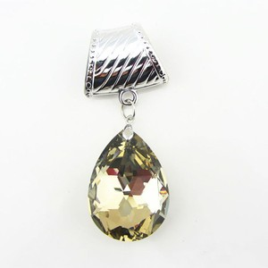 Mirrored Glass Tear Drop Scarf Charm Pendant Free Shipping