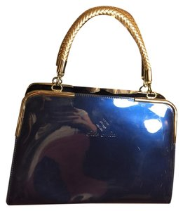 cleo Satchel in Sapphire Blue/Silver