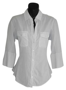 James Perse Button Down Shirt gray