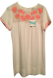 Umgee short dress White with Coral Short Sleeve on Tradesy