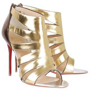 Christian Louboutin Patent Leather Gold Sandals