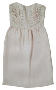 Rachel Roy Strapless Cream Dress