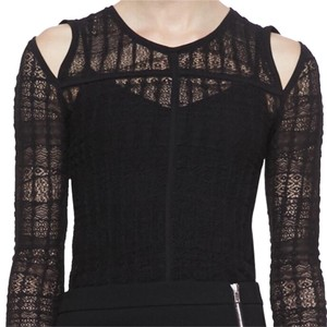IRO Camille Lace Long Sleeve Top Black