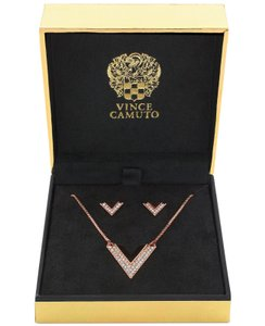 Vince Camuto Vince Camuto - Rose Gold Necklace & Earring Set