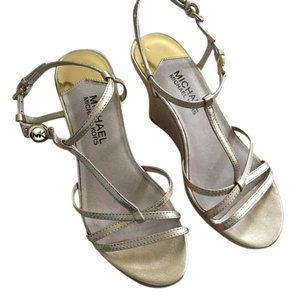 Michael Kors Metallic Neutral Gold Wedges
