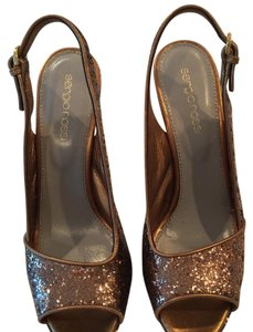 Sergio Rossi Metallic Bronze Platforms