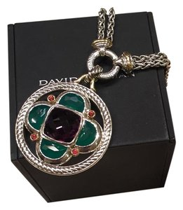 David Yurman Half Moon Amethtst Renaissance Enhancer And Double Wheat Chain