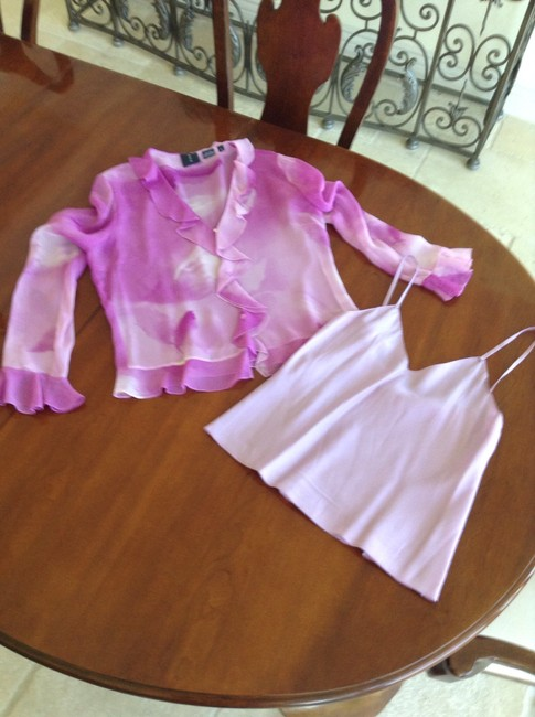 Magaschoni Pink Silk Pant Suit