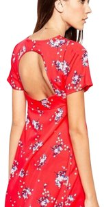 ASOS short dress Red with floral on Tradesy